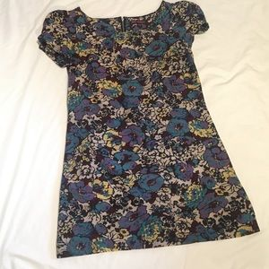 Betsey Johnson Cotton Floral Mini with Zipper